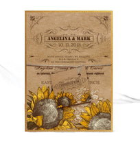 Load image into Gallery viewer, VINTAGE SUNFLOWER WEDDING INVITATION