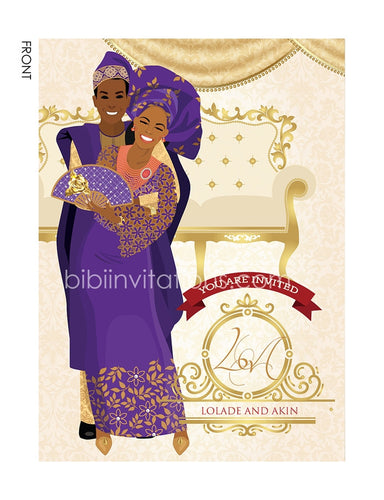 Iwo nikan Yoruba Nigerian Traditional Wedding Invitation