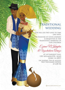 Ije Love Nigerian Igbo Traditional Wedding Invitation