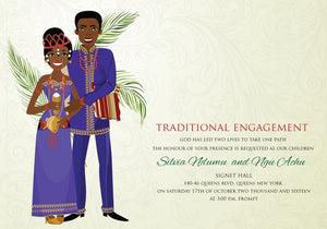 One Kain Love Cameroonian Traditional Wedding Invitation