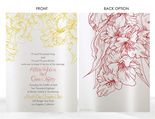 FLORAL WEDDING INVITATION OPTION 2