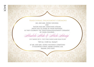 Awelewa Yoruba Nigerian Traditional Wedding Invitation