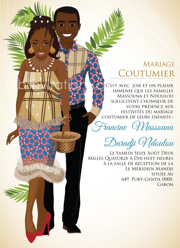 Ma Gnore Wa Traditional Wedding Invitation