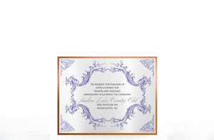 VINTAGE CHERUB WEDDING INVITATION