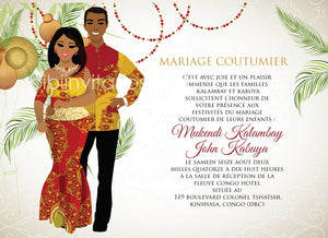 Mon Chouchou Congo Traditional Wedding Invitation