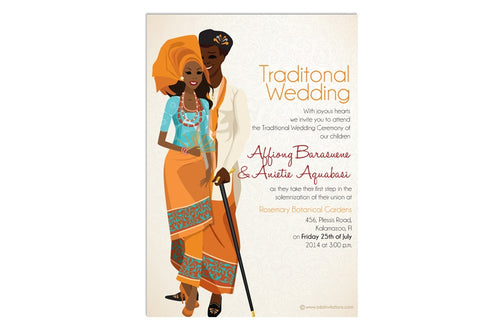 Imauwemi Nigerian Efik/Ibibio Traditional Wedding Invitation