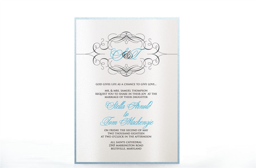 SWIRL WEDDING INVITATION