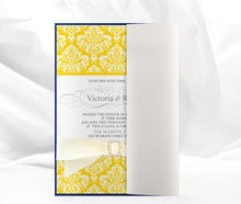 Load image into Gallery viewer, FLORAL DAMASK WEDDING INVITATION