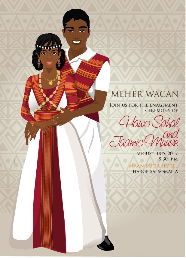 Waan ku jecelahay Somali Traditional Wedding Invitation