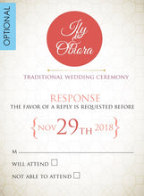 Load image into Gallery viewer, Akwa Nwa Igbo Nigerian Traditional Wedding Invitation