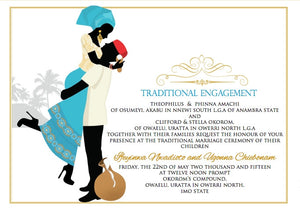 Obi uto'm Igbo Tradtional Wedding Invitation