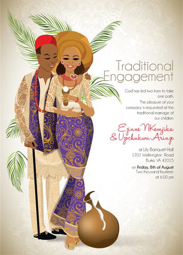 Omasili'm Nigerian Igbo Traditional Wedding Invitation
