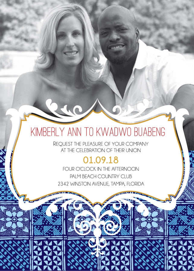 MORENIKE African Wedding Invitation