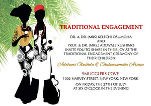 Onyenkem Igbo Tradtional Wedding Invitation