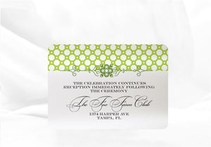 ORNATE FILIGREE  WEDDING INVITATION