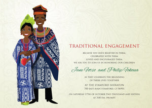Mon Ange Cameroonian Traditional Wedding Invitation