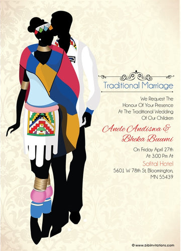 Sinothando Ndebele Traditional Wedding Invitation