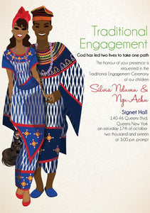 Fou d'amour Cameroonian Traditional Wedding Invitation