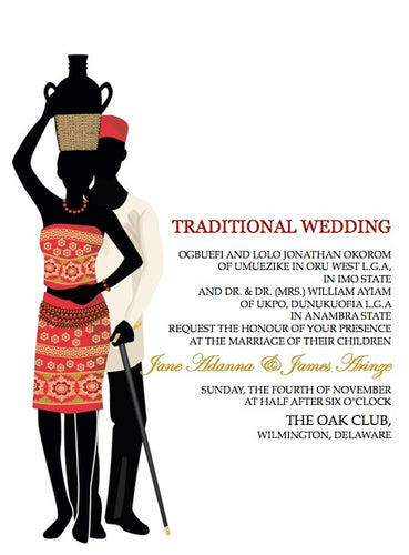 Akwa Ugo Igbo Tradtional Wedding Invitation