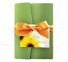 Load image into Gallery viewer, SUNFLOWER WEDDING INVITATION