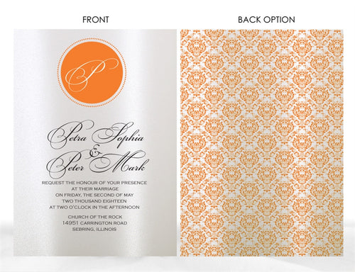 MONOGRAM WEDDING INVITATION OPTION 2