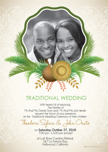 Oyi'm Ututu African Wedding Invitation