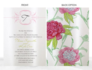 MODERN FLORAL WEDDING INVITATION OPTION 2