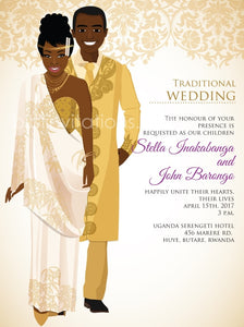 Ndagukunda Rwandan Traditional Wedding Invitation