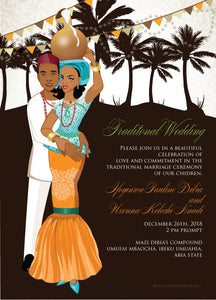 Odi'm na obi Igbo Nigerian Traditional Wedding Invitation