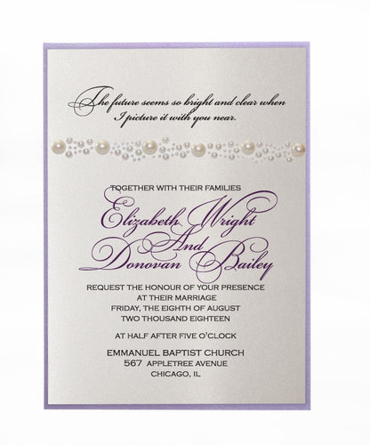 PEARL WEDDING INVITATION
