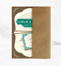Load image into Gallery viewer, RUSTIC VINTAGE FRAME WEDDING INVITATION