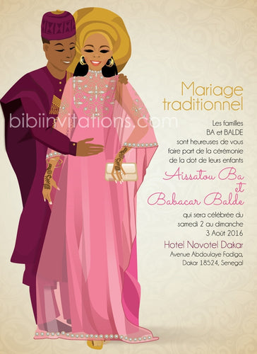 Nye Kanu Laye Senegal Traditional Wedding Invitation