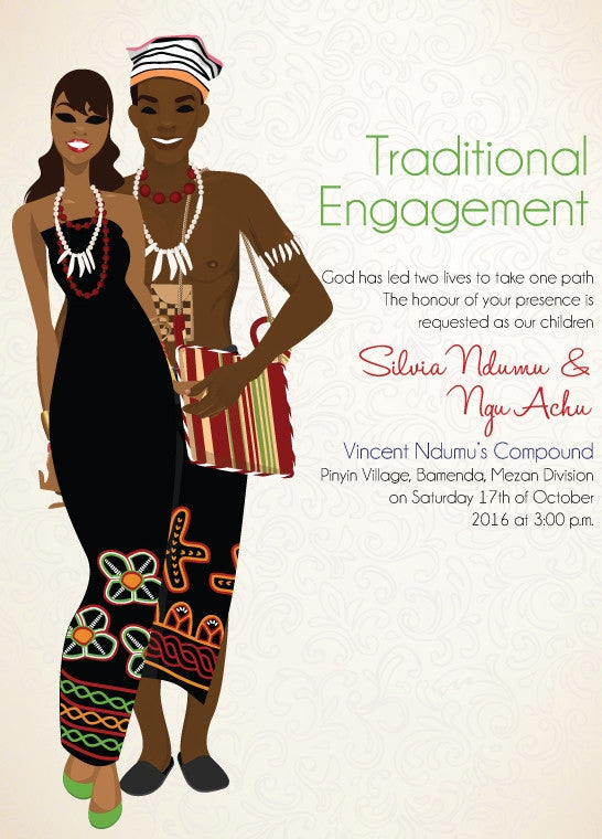 My Fine Baby Cameroonian Traditional Wedding Invitation