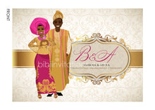 Load image into Gallery viewer, Awelewa Yoruba Nigerian Traditional Wedding Invitation