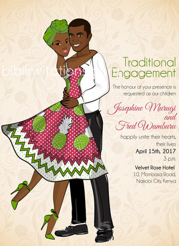 Upendo Kenyan Traditional Wedding Invitation