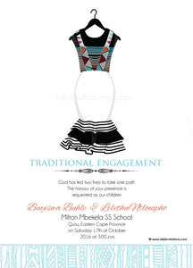 Sithandiwe Xhosa Traditional Wedding Invitation