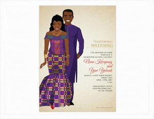 Abeafo Ghanaian Traditional Wedding Invitation