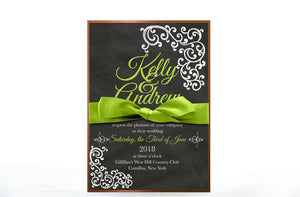 VINTAGE CHALKBOARD WEDDING INVITATION