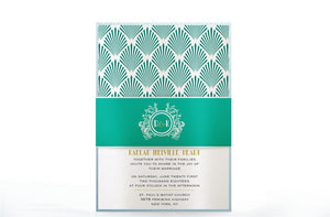 ART DECO WEDDING INVITATION