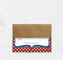 Load image into Gallery viewer, VINTAGE POLKA DOT WEDDING INVITATION