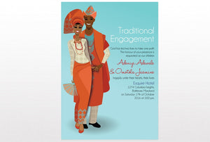 Ayomikun Nigerian Yoruba Traditional Wedding Invitation