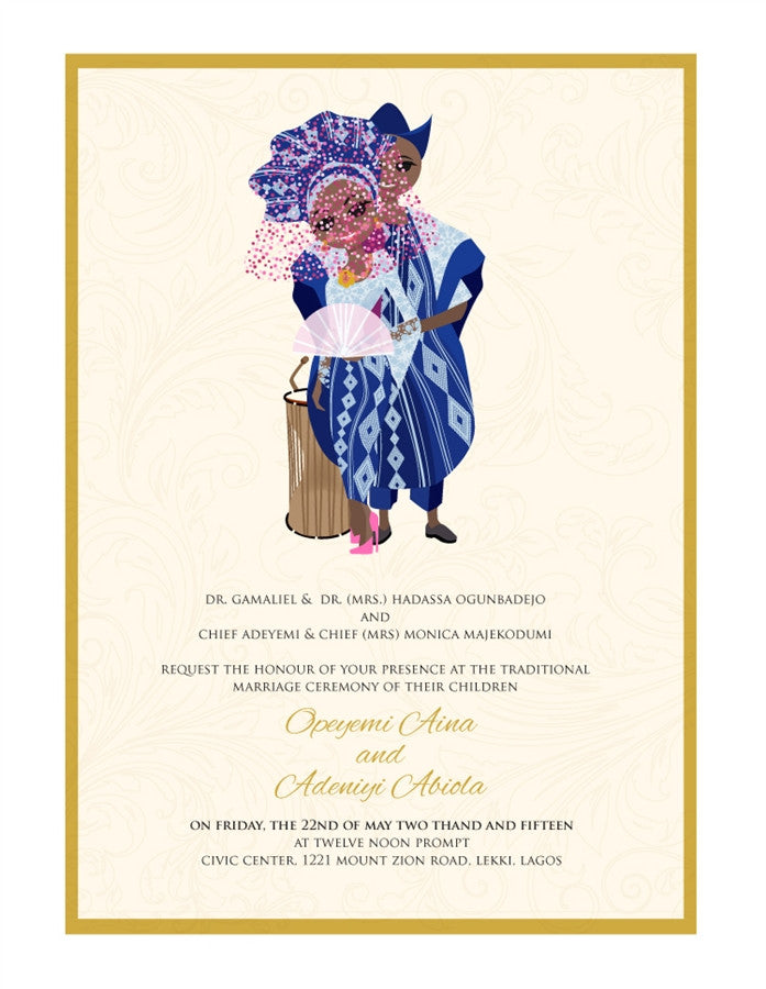 Ife Wa Gbona Nigerian Yoruba Traditional Wedding Invitation