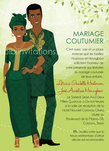 Cheri CoCo Benin Republic Yoruba Traditional Wedding Invitation