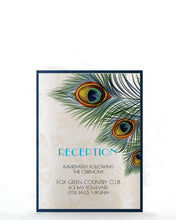 Load image into Gallery viewer, PEACOCK WEDDING INVITATION