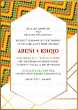 Load image into Gallery viewer, African kente DIY Template Wedding Invitation
