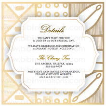 Load image into Gallery viewer, DIY Template Wedding Invitation