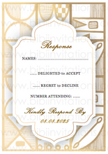 Load image into Gallery viewer, DIY Template Wedding Invitation RSVP