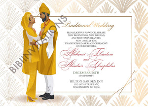 Ayomide Nigerian Yoruba Traditional Wedding Invitation