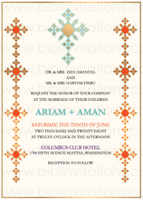 Load image into Gallery viewer, Ethiopian DIY Template Wedding Invitation RSVP