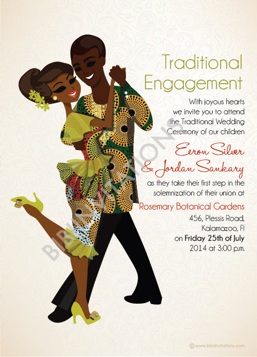 Forever Ma Be be Liberian Traditional Wedding Invitation